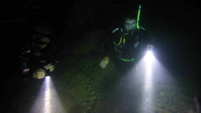 Coral Coast Night dive at Exmouth Navy Base