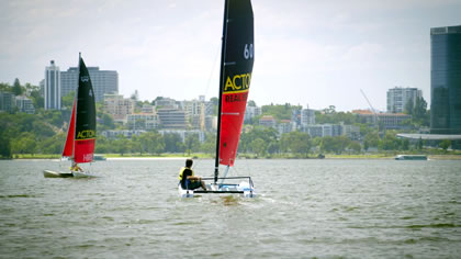 Hobie Cats on the Swan
